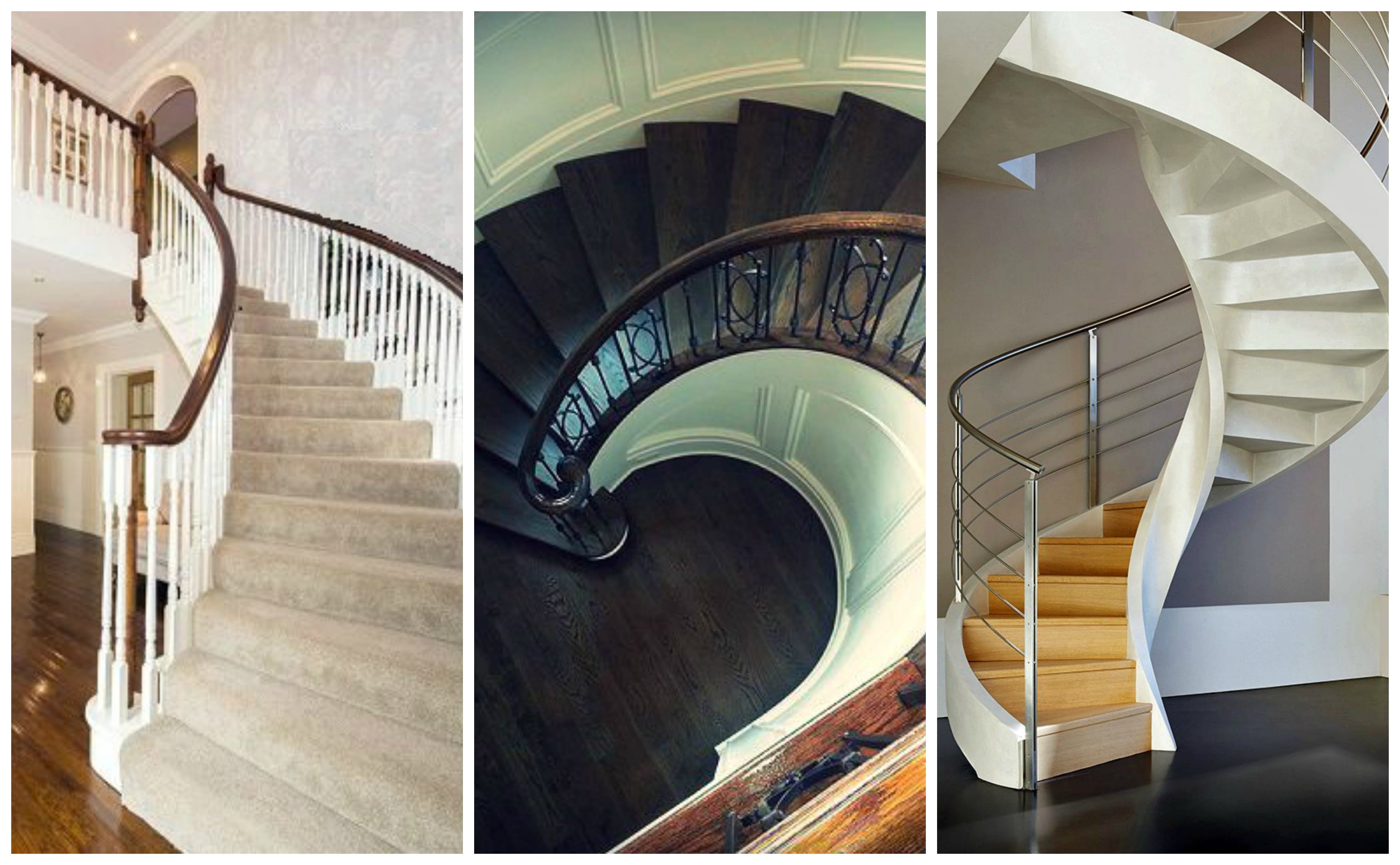 George Quinn Stair Parts Plus - Staircase Design Trends - Curved Stairs