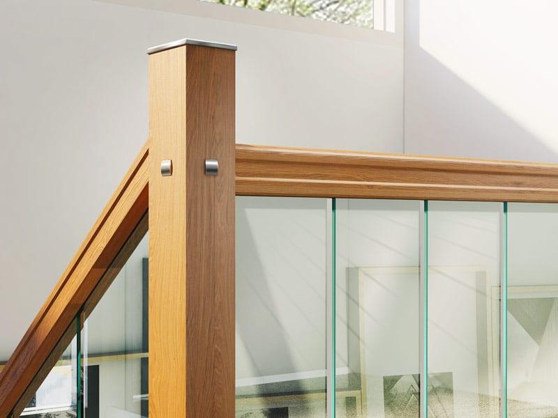 Glass-Stairs-Landing-Closeup-with-Oak-George-Quinn-Stair-Parts-Urbana